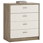 Value by Wayfair Clarkia 4 Drawer Chest - Canyon Grey / Pearl White