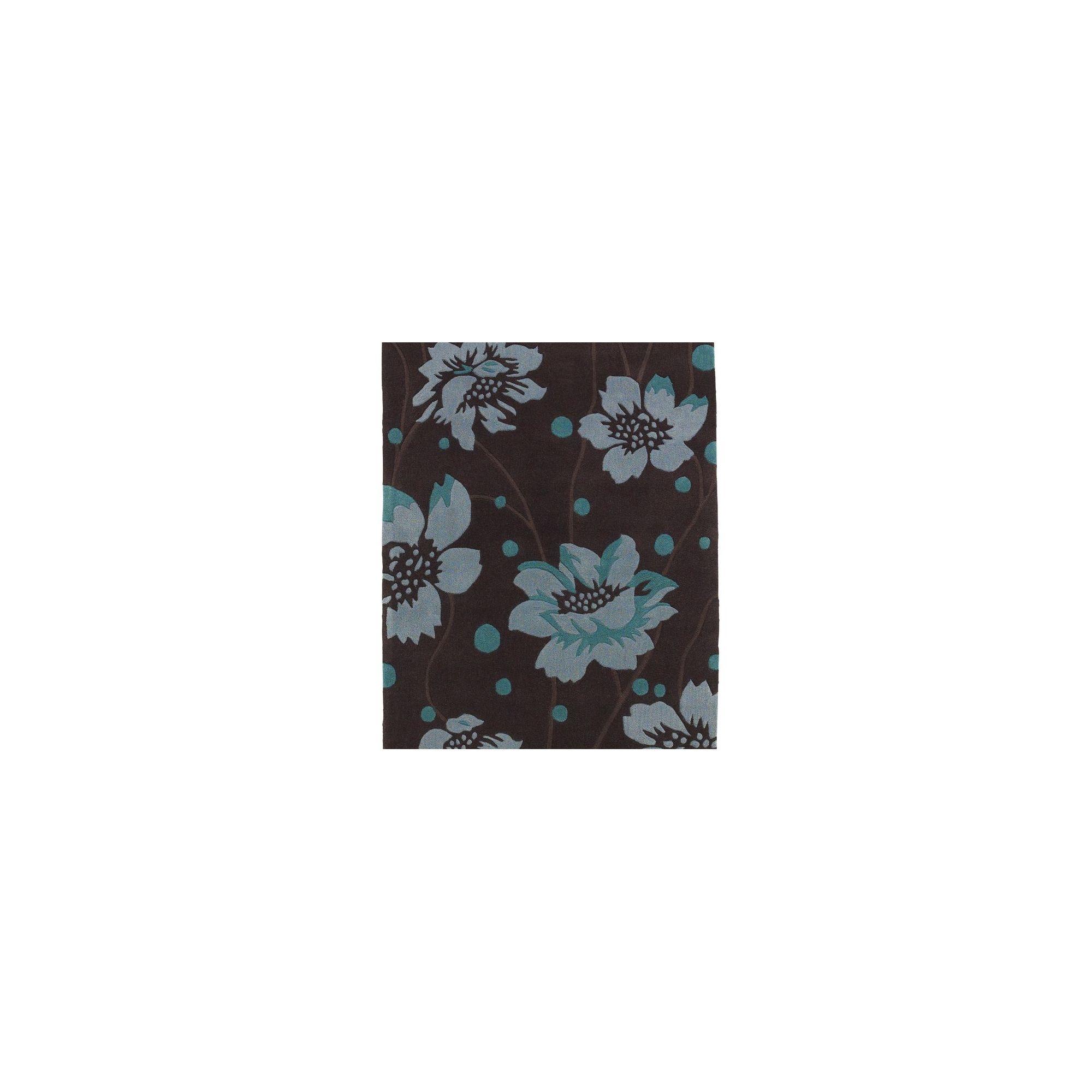 Oriental Carpets & Rugs Hong Kong Brown/Blue Tufted Rug - 150cm L x 90cm W