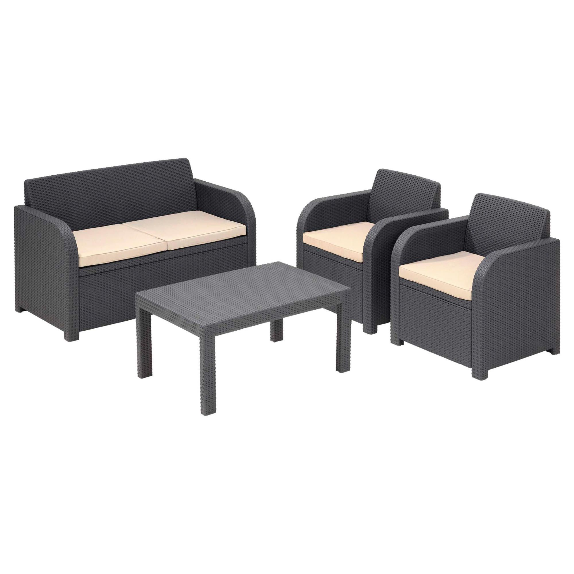 Keter Carolina Rattan Effect Lounge Set at Tesco Direct