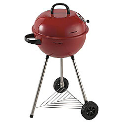 Tesco 46cm Kettle Charcoal BBQ, Red