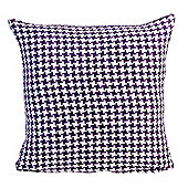 Homescapes Houndstooth 100% Cotton Scatter Cushion Purple, 45 x 45 cm