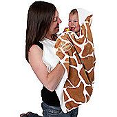 Cuddledry Baby Apron Bath Towel - Giraffe Print