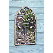 Large Outdoor Arch Ornate Garden Wall Mirror 40Cm X 24Cm