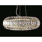 Impex Lighting Rimini 6 Light Pendant in Gold