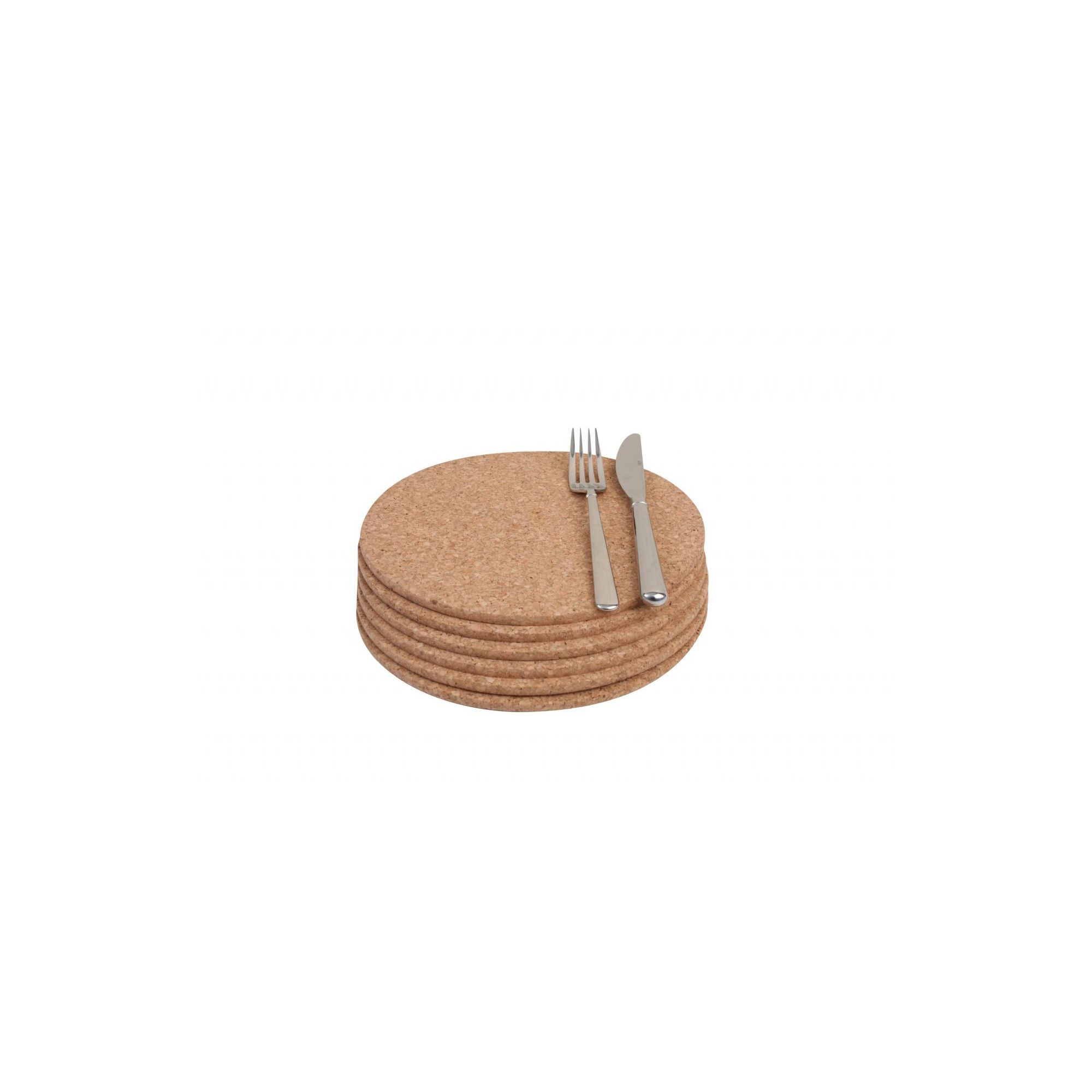 T And G Woodware Ltd Cork Mats Round (Pack 6)