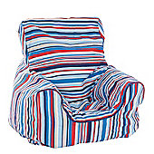 Just 4 Kidz Kids 44cm Practical Bean Chair - Sky Stripe