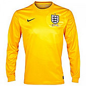 2013-14 England Away Nike Goalkeeper Shirt (Yellow) - Yellow