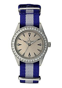 ToyWatch Vintage Unisex Fabric Swarovski Crystal Watch VI09SL