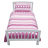 Baroo Cotbed Duvet Cover and Pillowcase Set - Pink