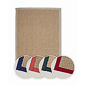 Dandy Natural Rugs Natural Woven Rug - 135 cm x 200 cm (4 ft 5 in x 6 ft 6.5 in)