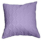Homescapes Ultrasonic Mauve Quilted Embossed Filled Cushion, 40 x 40 cm