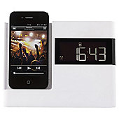 Kitsound X-Dock with FM Radio for iPhone 4/4s, White