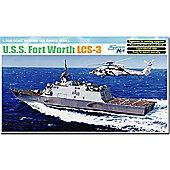 Dragon 7129 Uss Freedom Lcs-3 Fort Worth 1:700 Smart Model Kit Cyber-Hobby