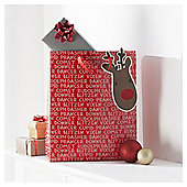 Tesco Rudolph Christmas Gift Bag, Large