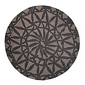Esprit Oriental Lounge Taupe Tufted Rug - Round 150 cm x 150 cm (4 ft 11 in x 4 ft 11 in)