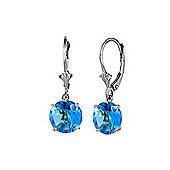 QP Jewellers 2.70ct Blue Topaz Leverback Earrings in Sterling Silver