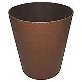 Brown Faux Leather Bin