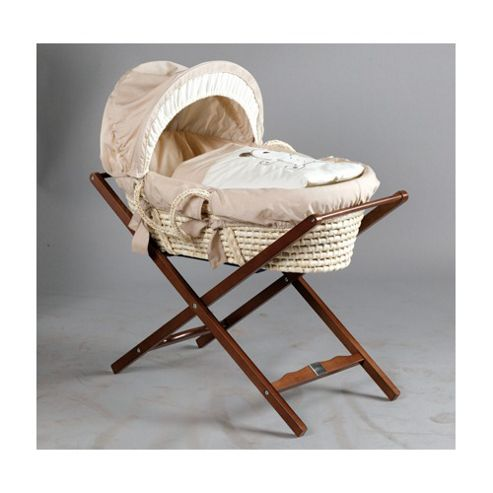 Lollipop Lane Classic Moses Basket Stand in Dark Wood