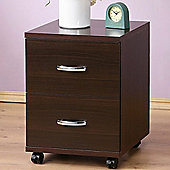 File - Two Drawer File Cabinet/ Side Table - Dark Oak
