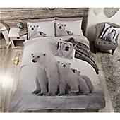 Rapport Urban Unique Polar Bear  Quilt Set  Coloured - Multi