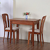 G&P Furniture Windsor House 3-Piece Newark Flip Top Dining Set with Slatted Back Chair - Cherry