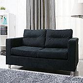 Leader Lifestyle Star 2 Seater Sofa - Black Fabric