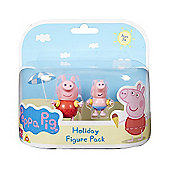 Peppa Pig Holiday Figure Double Pack - Peppa & George with Swim Aids
