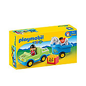 Playmobil 123 Car with Horse Trailer