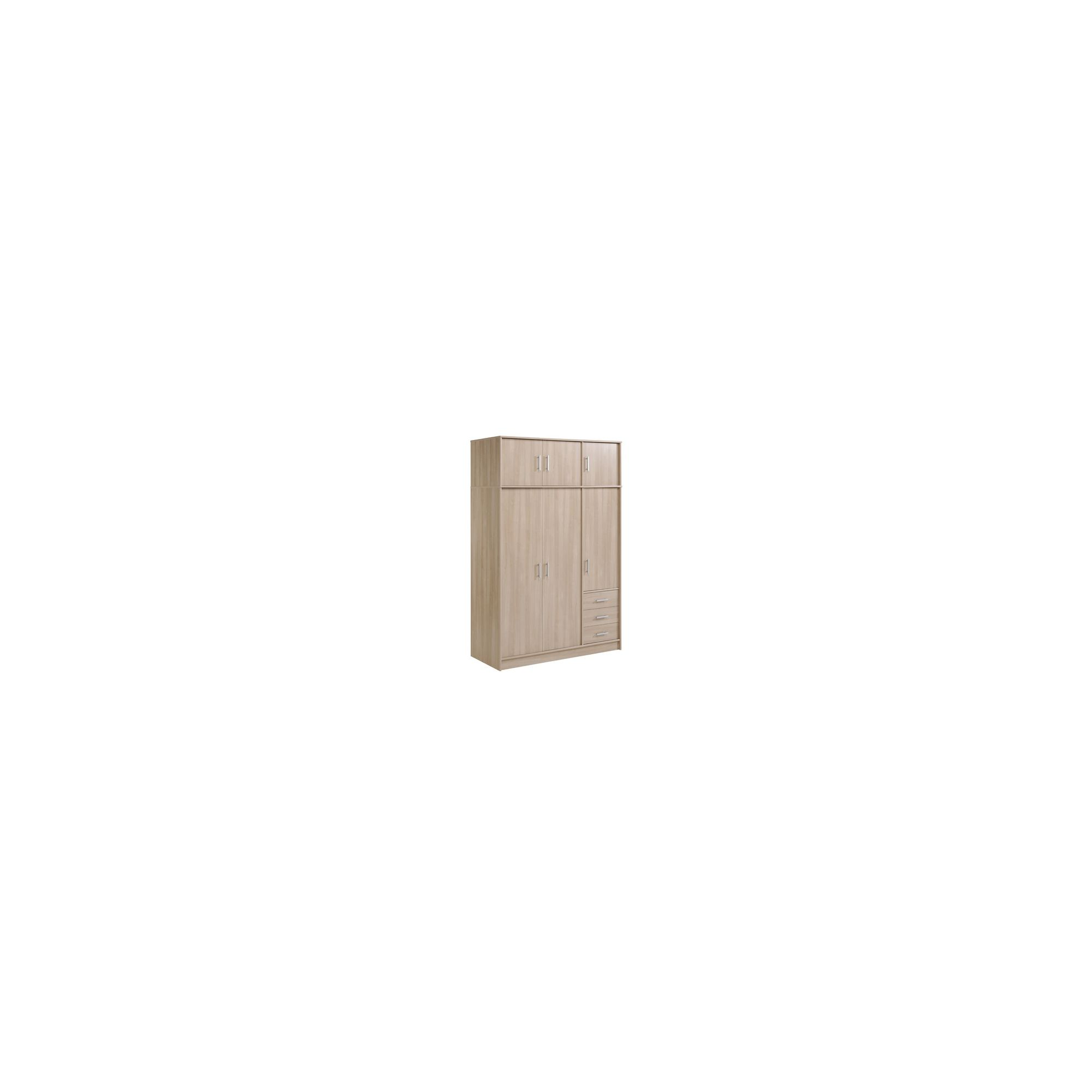 Parisot Essential Wardrobe with 6 Doors and 3 Drawers - Coffee Effect at Tescos Direct