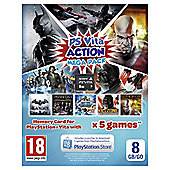 PSVita 8gb Memory card Action Mega Pack
