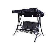 Black 3 Seat Swing Hammock