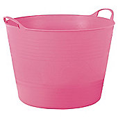 Tesco 15L Flexi Tub Flamingo Pink
