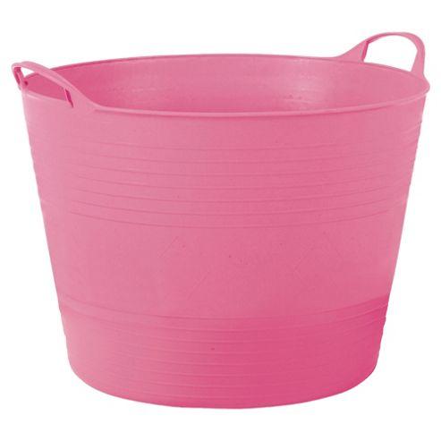 Tesco 15L Flexi Tub Flamingo Pink