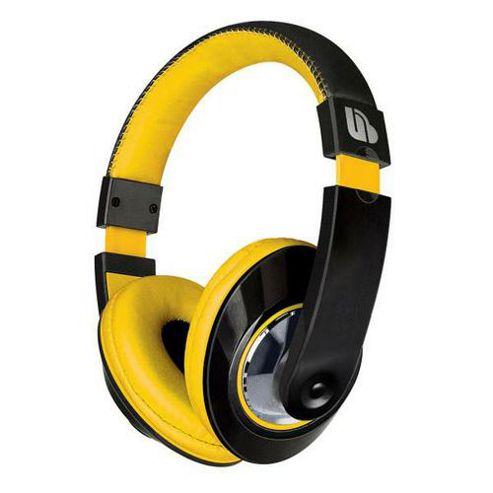 Merkury Tempo Headphones in Black & Yellow