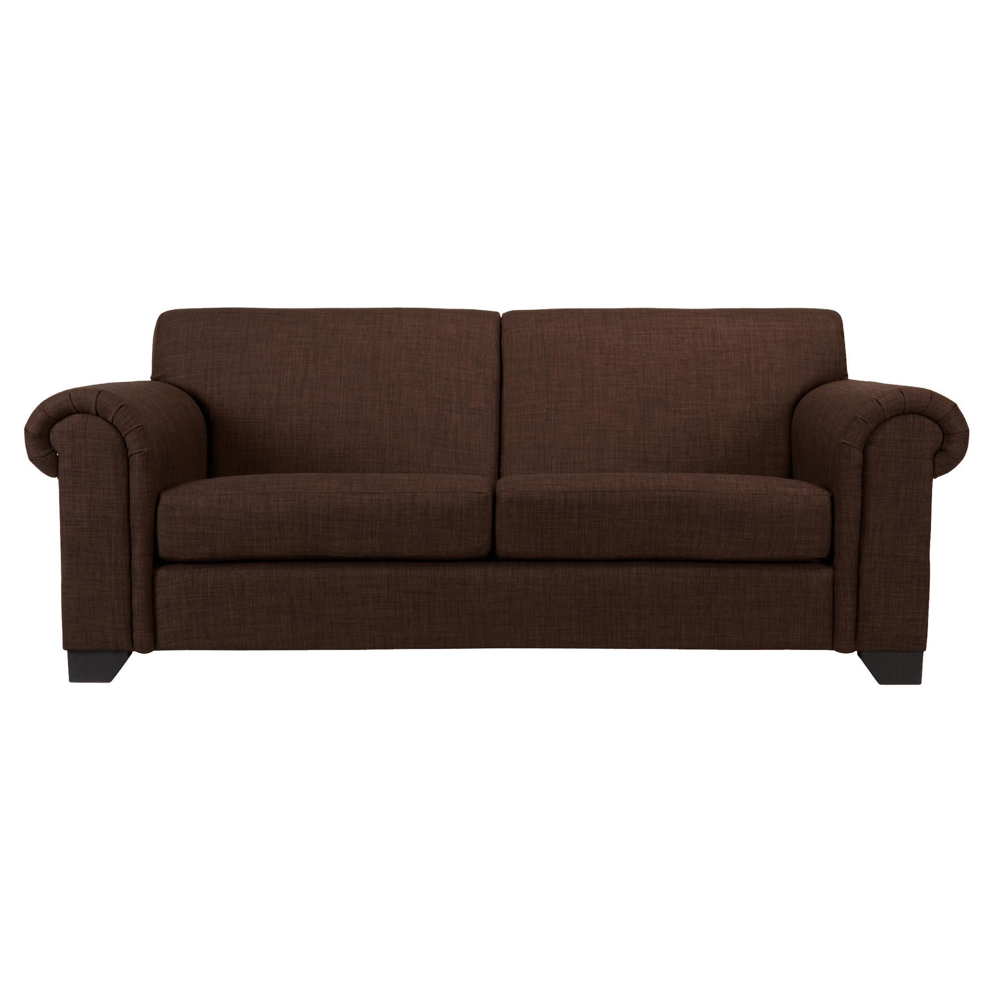 Chester fabric medium sofa chocolate at Tesco Direct
