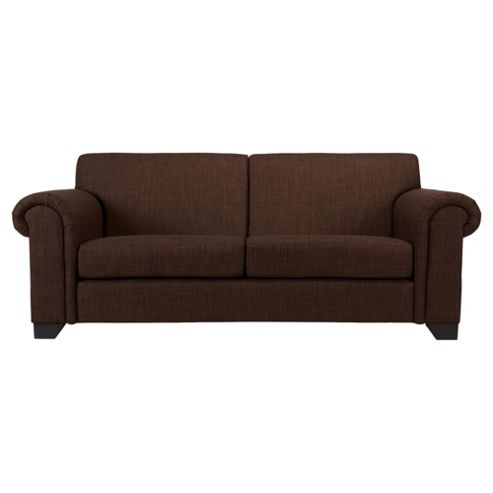 Chester fabric Medium 3 Seater sofa chocolate