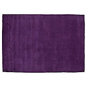 Plain Dye Wool Rug 160x230 Plum