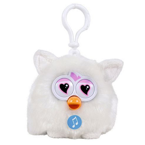 Furby Talking Key Ring - White
