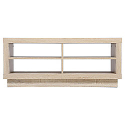 Torino 4 Shelf Tv Unit Whitewashed Oak Effect