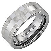 Willis Judd New Mens 8mm Tungsten Christian Cross Ring