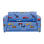 Children's Sofa Bed - Toy Trucks