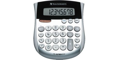 Texas Instruments Desk Calculator with Large Digits