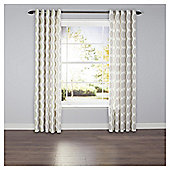 Leaf Print Lined Eyelet Curtains - Green