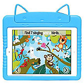 Kids Shock Proof Blue Kitty Case For The iPad Air 2 / 1