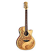 Luna HEN P2 Henna Paradise Spruce Guitar