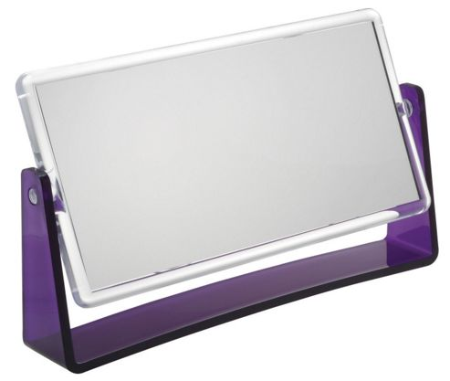 Famego 5x and 12x Magnification Folding Stand Mirror in Purple