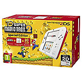 2DS HW White + Red + New Super Mario Bros 2
