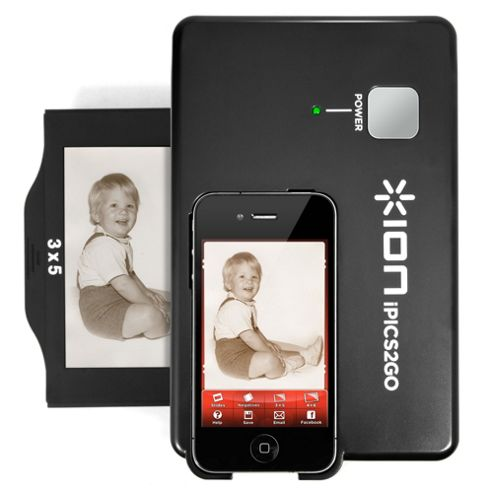 Ion iPics 2 Go photo slide and negative scanner for iPhone 4 and iPhone 4S