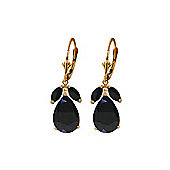 QP Jewellers 9.30ct Sapphire Pear Drop Earrings in 14K Rose Gold