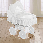 Leipold Noblesse Wicker Hood Crib in White